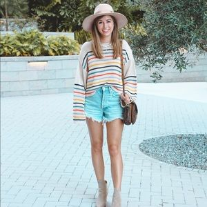 Love stitch rainbow sweater